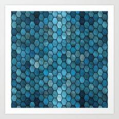 Glitter Tiles III Art Print