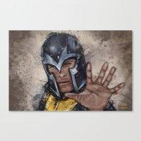 magneto Canvas Prints featuring Magneto. by Emiliano Morciano (Ateyo)