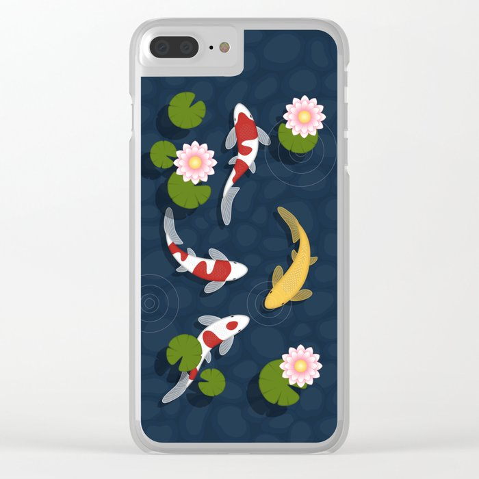Japanese Koi Fish Pond Clear iPhone Case