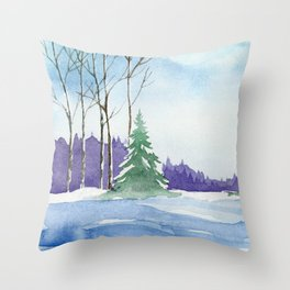 Winter scenery #9 Throw Pillow