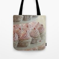cupcakes Tote Bags featuring Cupcakes by Mary Kilbreath