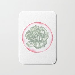 Carnation Birth Flower - January - Teal Bath Mat