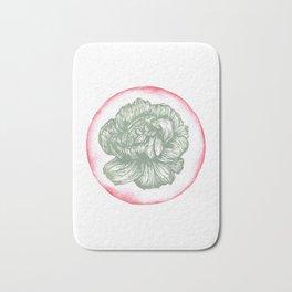 Carnation Birth Flower - January - Teal Bath Mat