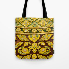 flower statue in Thai style Tote Bag