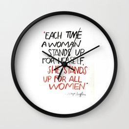 QOTD Maya Angelou Wall Clock