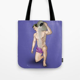 male nude art comics   ,aquarius Tote Bag