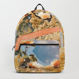 Yellow Wildflower Collage Backpack