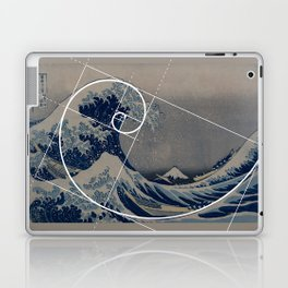 Hokusai Meets Fibonacci Laptop & iPad Skin