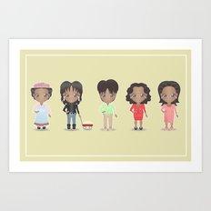 Oprah + Sofia Art Print