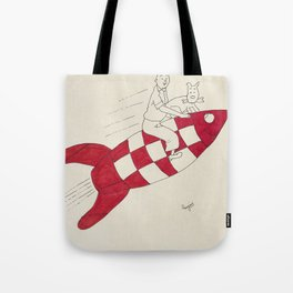 Tintin and Snowy Tote Bag