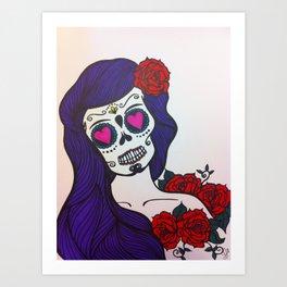 day of the dead skull 1 Art Print