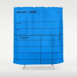 Library Card BSS 28 Blue Shower Curtain