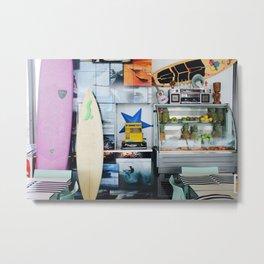 Surf Café Metal Print
