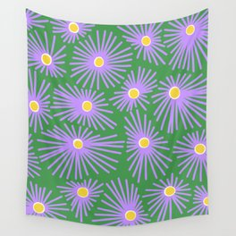 New England Asters Wall Tapestry