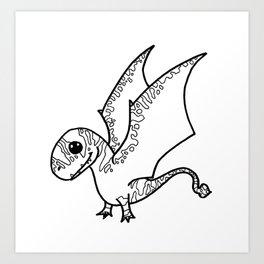 Dimorphodon Sketch Art Print