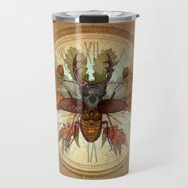 The beetle and the autumn Travel Mug