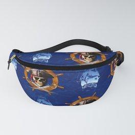 Ocean Blue Jolly Roger Pirate Wheel Fanny Pack