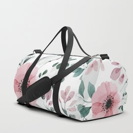 Illustration watercolor flowers and plants Duffle Bag