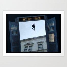 Tardis Jump Art Print