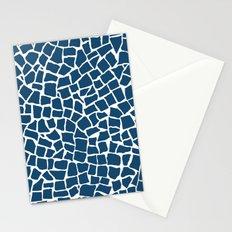 British Mosaic Navy and White Stationery Cards