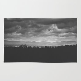 Scenic View of Mountains in Quebec Rug