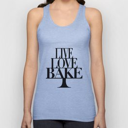 Live love bake Unisex Tank Top