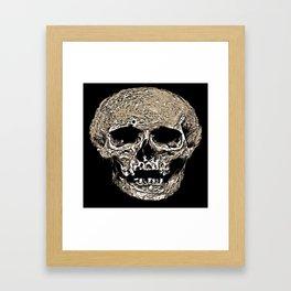 Full Skull With Rotting Flesh Vector Framed Art Print