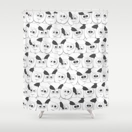Crazy Herd of Sheep Shower Curtain