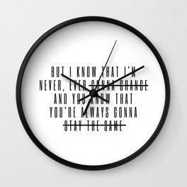but i know Wall Clock