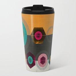 Geometric Hex & Circle Travel Mug