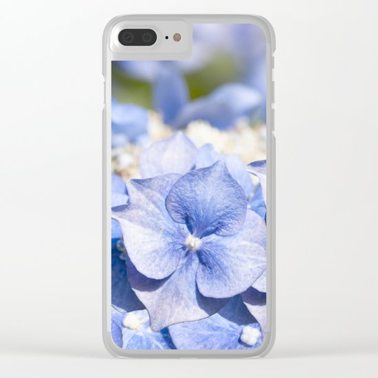 Blue hydrangea- Flower Floral Clear iPhone Case