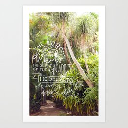 Every Detail | Psalm 37:23 Art Print