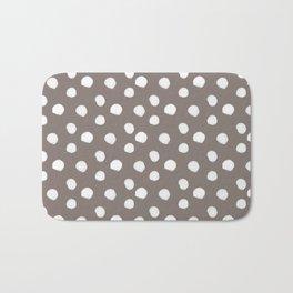 Brushy Dots pattern - brown Bath Mat