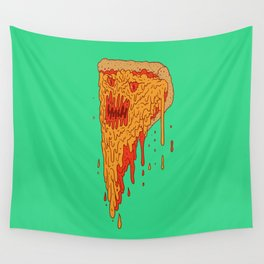 Evil Pizza Wall Tapestry