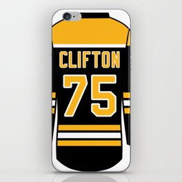 Connor Clifton Jersey iPhone Skin