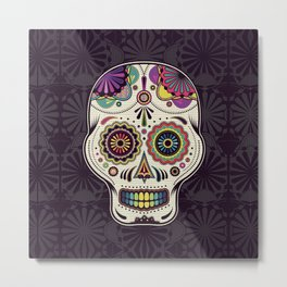 Sugar Skull Art Metal Print