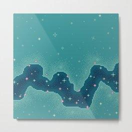 Aqua Rift Galaxy (8bit) Metal Print