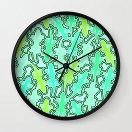 Lizards in green Wall Clock