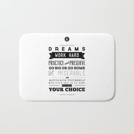 Sincerely Typography Bath Mat