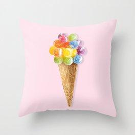 Candy Icecream Throw Pillow