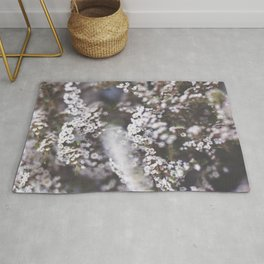 The Smallest White Flowers 01 Rug