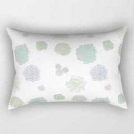 Pastel Succulents Rectangular Pillow