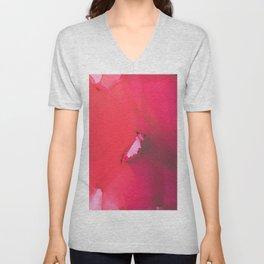 Red flower Unisex V-Neck