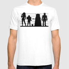 Doctor Who: The Whovian Suspects Mens Fitted Tee SMALL White