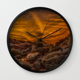 Red Rock Beach Wall Clock