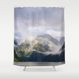 Rainbow to Nowhere Shower Curtain