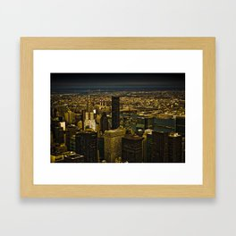 Golden New York Framed Art Print