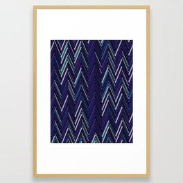 Abstract Chevron Framed Art Print