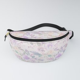 Modern lavender lilac pink watercolor floral Fanny Pack
