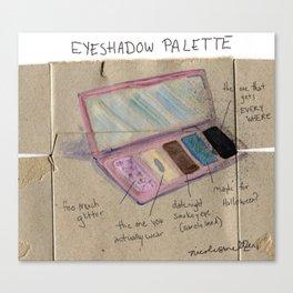 Diagram of an Eyeshadow Palette Canvas Print